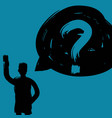 man with question mark decision making concept vector image