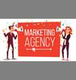 marketing agency banner inbound outbound vector image