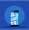 mobile navigation concept vector image vector image