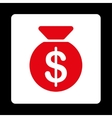 Money Bag Icon from Commerce Buttons OverColor Set vector image
