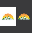 mountain sun logo vector image