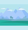 mountains landscape flat vector image vector image