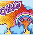 oh my god pop art cartoons vector image vector image
