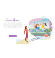 parenting startup landing page template vector image