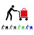passenger trolley flat icon vector image