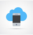 phone cloud trendy symbol trendy colored vector image vector image