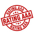 rating aaa round red grunge stamp vector image vector image