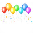 realistic balloon rainbow vector image vector image