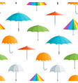 realistic detailed 3d color umbrella seamless vector image vector image