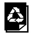recycle paper icon simple style vector image