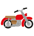 red motorcycle vector image vector image