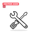 screwdriver and wrench icon white backgroun vector image