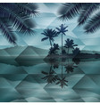 sea at night geometric background vector image vector image