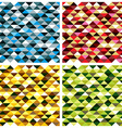 seamless geometric patterns with colorful elements vector image vector image