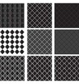 seamless pattern black diamond vector image