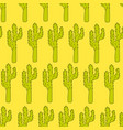 seamless pattern with cactuses - design vector image vector image