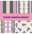 set Easter seamless pattern with eggs vector image vector image