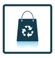 Shopping bag with recycle sign icon vector image vector image