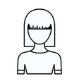 sketch silhouette of faceless half body young vector image vector image