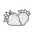 strawberry fruit icon design sign vector image