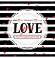 stylish happy valentines vector image vector image
