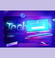 tech banner desktop computer vector image