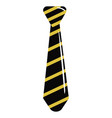 tie striped isolated vector image