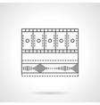 Video media bar flat line icon vector image vector image