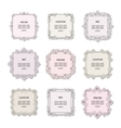 Vintage square frames set isolated on white vector image vector image