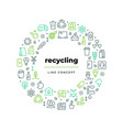 Waste recycle line concept zero waste environment