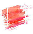 watercolor coral brushstroke with frame vector image