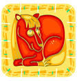 year horse chinese horoscope animal sign vector image vector image