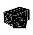 cd disc collection - vinyl icon vector image