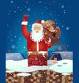 christmas santa claus cartoon waving her vector image