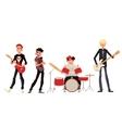 Cartoon rock group musicians vector image