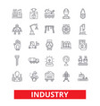 industry factory manufacturing assembly vector image