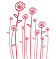 abstract red roses vector image vector image