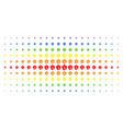amoeba spectrum halftone array vector image