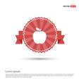 apple fruit icon - red ribbon banner vector image