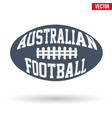 ball of australian rules football with typography vector image vector image