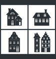 black silhouettes of buildings