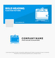 blue business logo template for cash finance vector image vector image