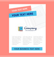 book and pencil title page design for company vector image vector image