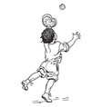 boy catching ball vintage vector image vector image