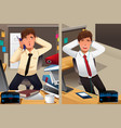 business concept of a sad monday and a happy vector image