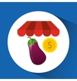 buying online eggplant vegetable icon vector image vector image