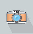 camera flat design with long shadow vector image vector image