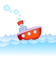 Cartoon steamship vector image