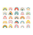 childrens rainbow abstract large set creative vector image vector image