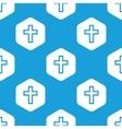Christian cross hexagon pattern vector image vector image